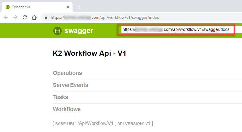 Copy Swagger File URL with /docs